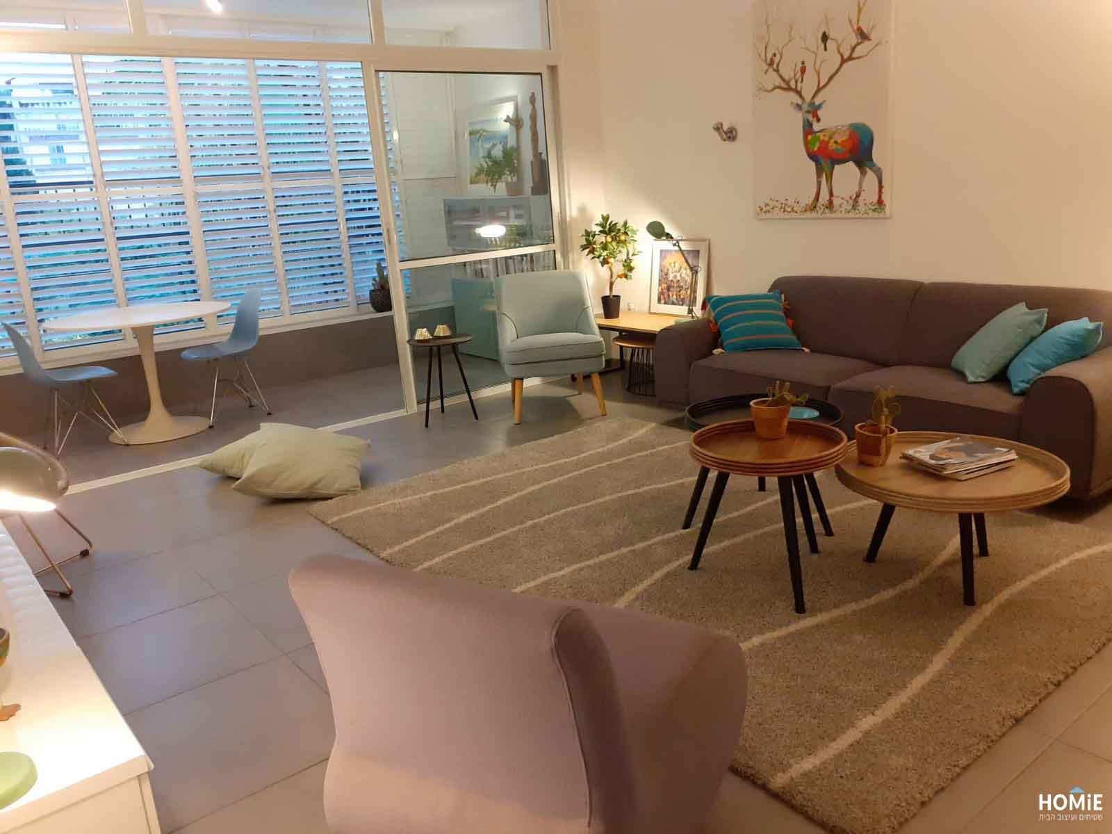 שטיח לסלון מודרני פסים א-סימטריים
