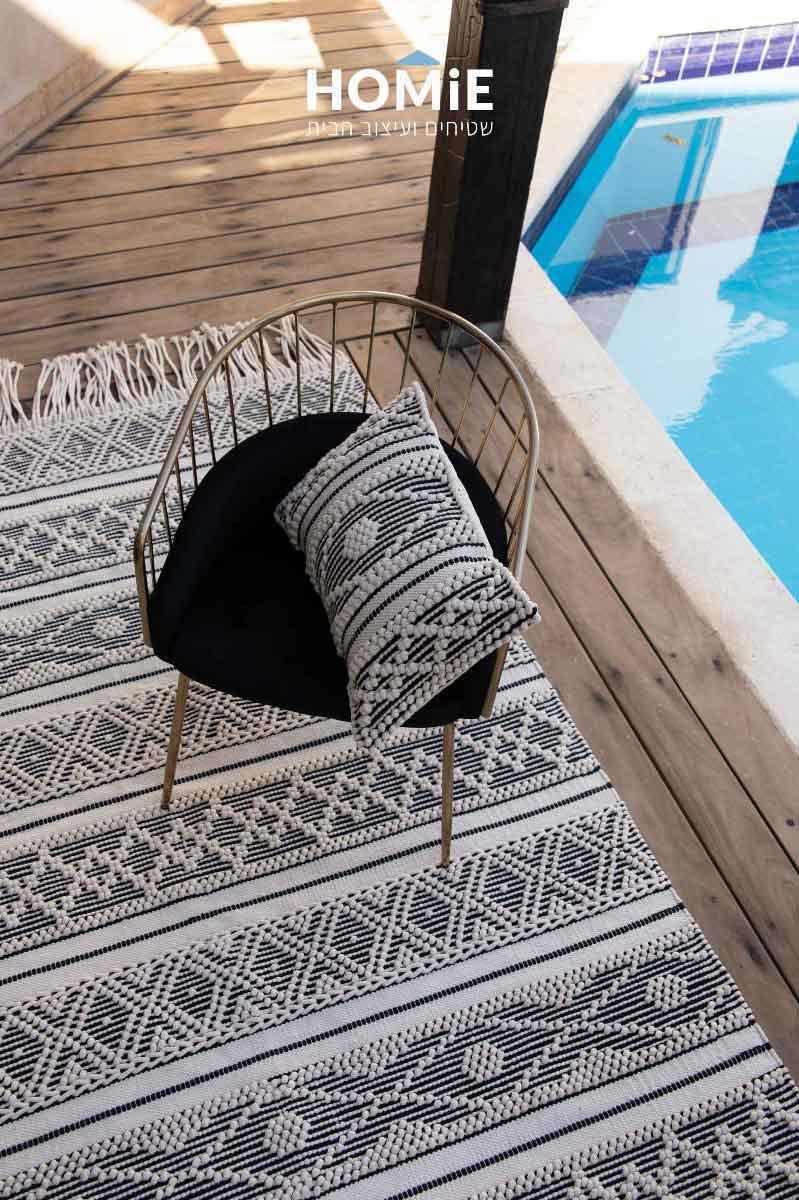 שטיח בוהו שיק נורדי סקנדינבי מודרני כותנה לסלון ושאר חלל הבית