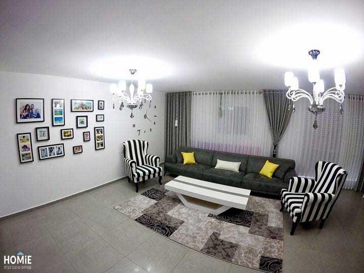 פרוייקט עיצוב בשרון של שטיחים, וילונות וכריות נוי