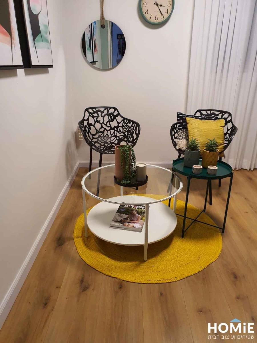 שטיח חבל יוטה טבעי עבודת יד למשרד ולבית