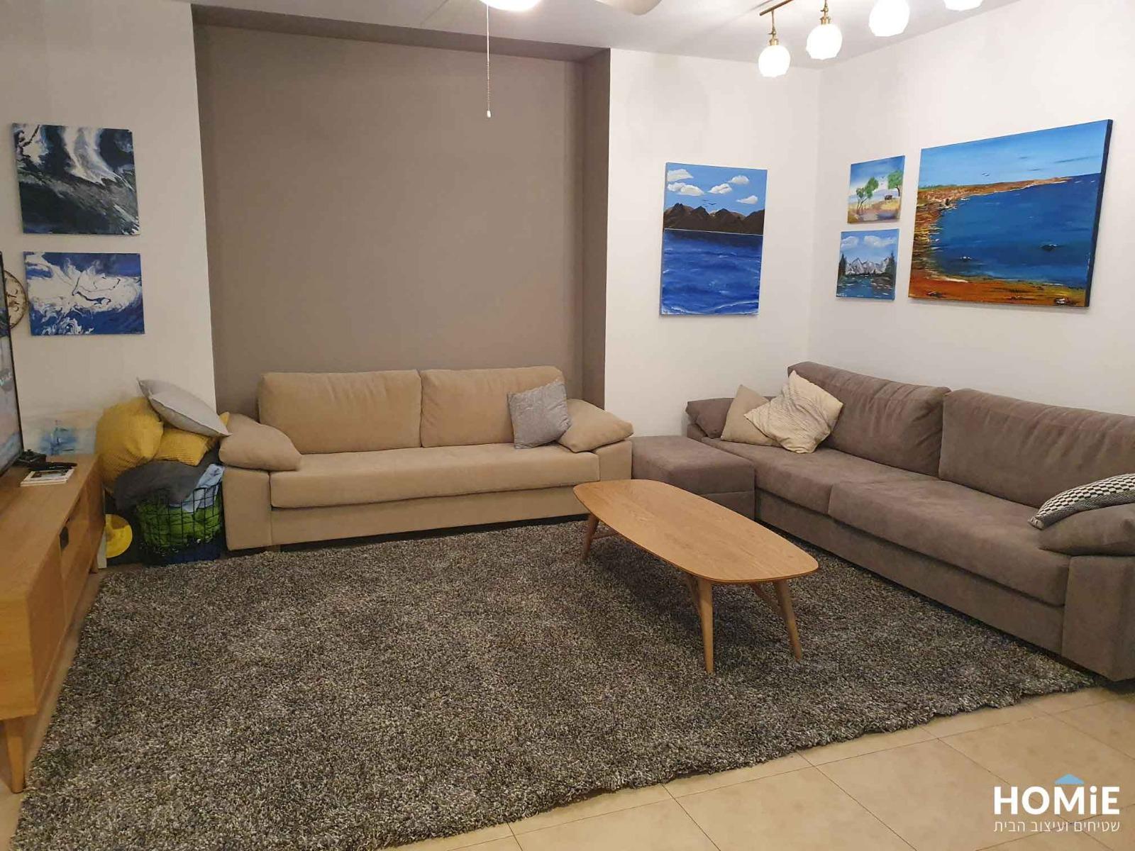 שטיח שאגי בלגי עבה אפור לסלון