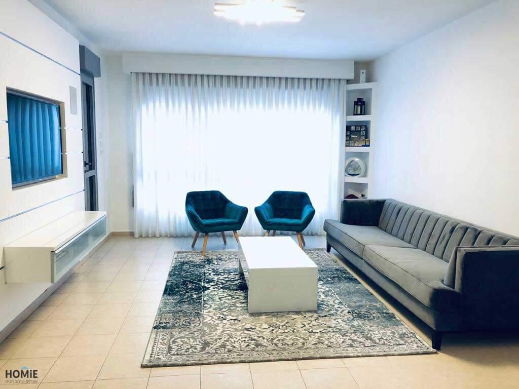 שטיח לסלון וינטג' פרחוני אפור טורקיז